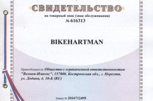 Свидетельство о регистрации товарного знака на территории РФ